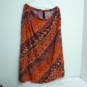 Michael Taylor SZ 20 Tribal Skirt Back Zip Slit